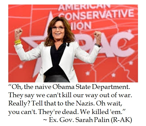 Sarah Palin on Winning a War